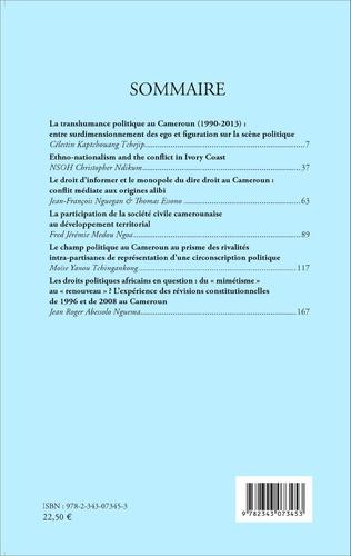 4eme Revue africaine d'études politiques et stratégiques