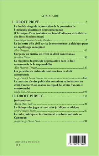 4eme Revue africaine des sciences juridiques n° 1/2015