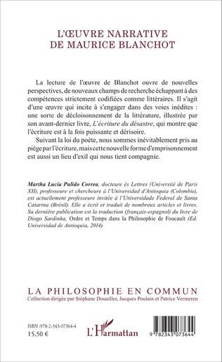 4eme L'oeuvre narrative de Maurice Blanchot