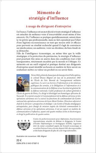 4eme Mémento de stratégie d'influence à usage du dirigeant d'entreprise
