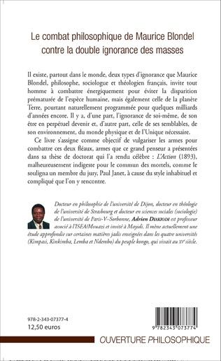4eme Le combat philosophique de Maurice Blondel contre la double ignorance des masses