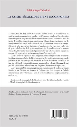 4eme La Saisie pénale des biens incorporels