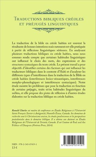 4eme Traductions bibliques créoles et préjugés linguistiques
