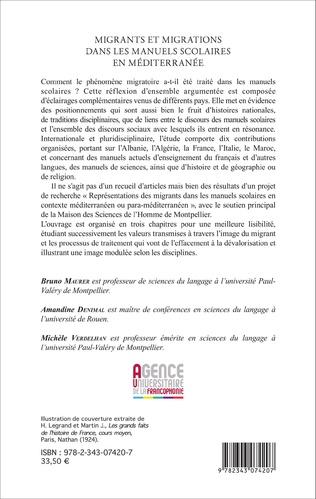 4eme Migrants et migrations dans les manuels scolaires en méditerranée