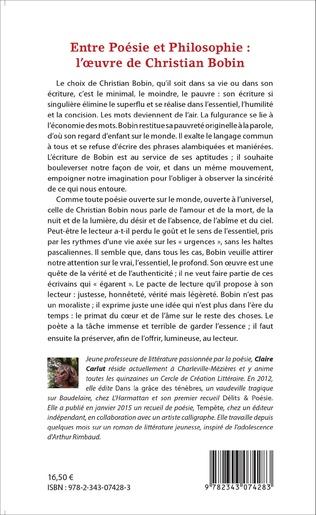 4eme Entre Poésie et Philosophie : l'oeuvre de Christian Bobin