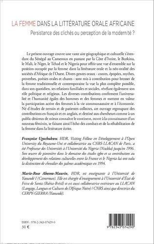 4eme La femme dans la littérature orale africaine