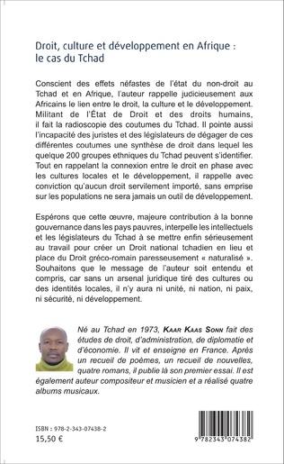 4eme Droit, culture et développement en Afrique : le cas du Tchad
