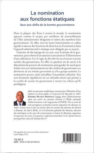 4eme La nomination aux fonctions étatiques face aux défis de la bonne gouvernance