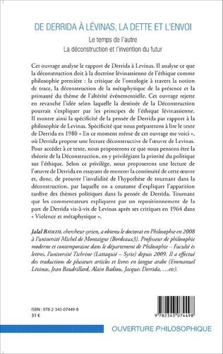 4eme De Derrida à Lévinas, la dette et l'envoi