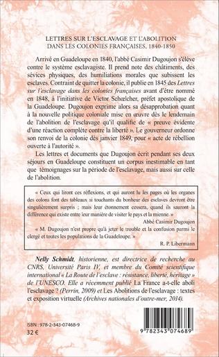 4eme Lettres sur l'esclavage et l'abolition dans les colonies françaises, 1840-1850