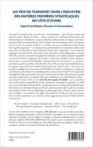 4eme Les prix de transfert dans l'industrie des matières premières stratégiques en Côte d'Ivoire