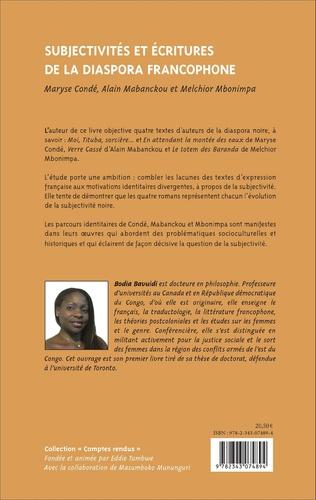 4eme Subjectivités et écritures de la diaspora francophone