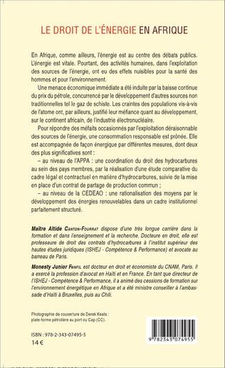 4eme Le droit de l'énergie en Afrique