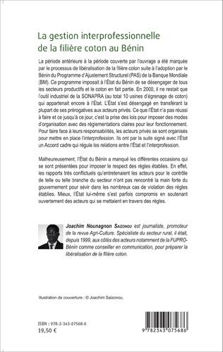 4eme La gestion interprofessionnelle de la filière coton au Bénin