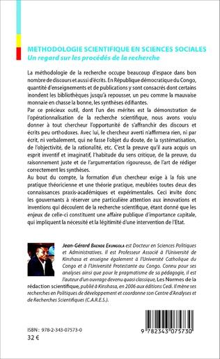 4eme Méthodologie scientifique en sciences sociales