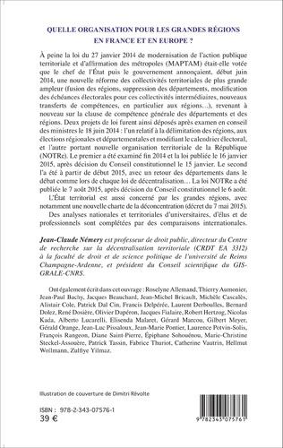 4eme Quelle organisation pour les grandes régions en France et en Europe ?