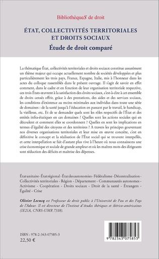 4eme État, collectivités territoriales et droits sociaux