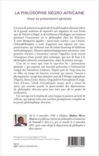 4eme La philosophie négro-africaine