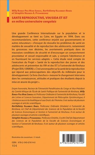 4eme Santé reproductive, VIH / SIDA et IST en milieu universitaire congolais