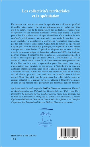 4eme Les collectivités territoriales et la spéculation