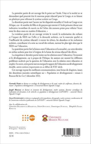 4eme Population, éducation et développement au Congo-Brazzaville