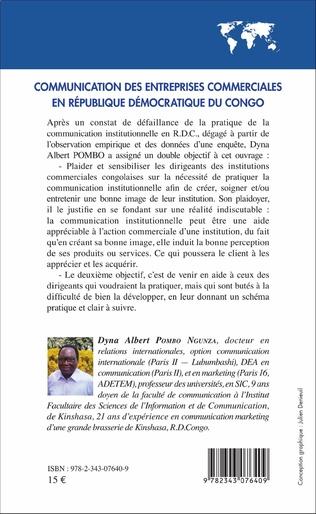 4eme Communication des entreprises commerciales en République démocratique du Congo