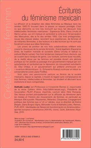 4eme Ecritures du féminisme mexicain