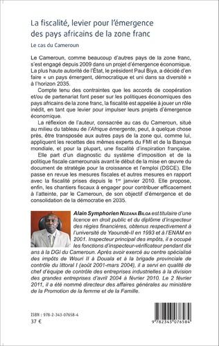 4eme La fiscalité, levier pour l'émergence des pays africains de la zone franc