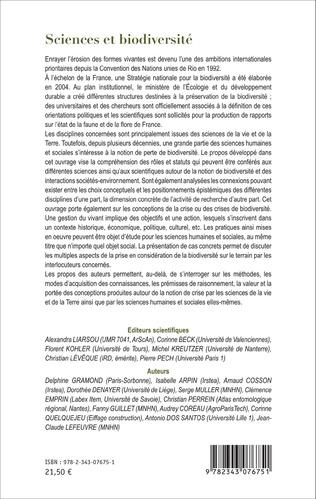 4eme Sciences et biodiversité