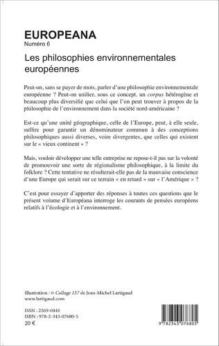 4eme Les philosophies environnementales européennes