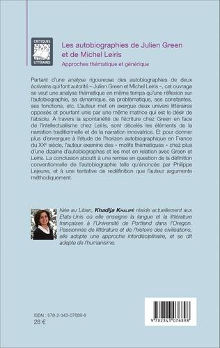 4eme Les autobiographies de Julien Green et de Michel Leiris