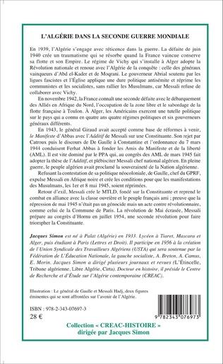 4eme L'Algérie dans la Seconde Guerre mondiale