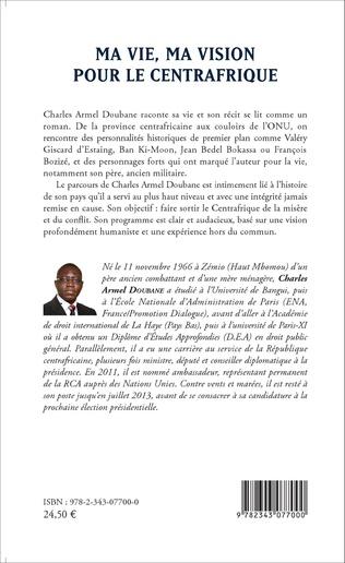4eme Ma vie, ma vision pour le Centrafrique