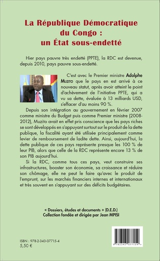 4eme La République démocratique du Congo : un État sous-endetté (fascicule broché)