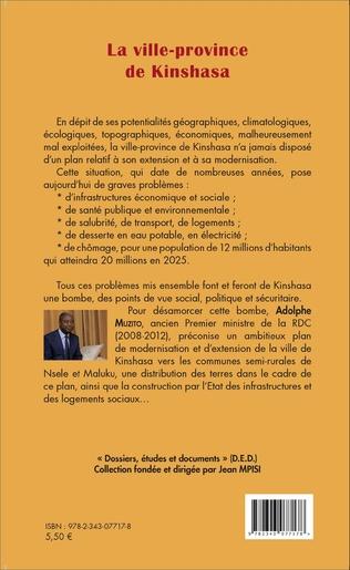 4eme La ville-province de Kinshasa (fascicule broché)