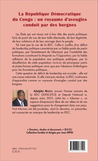 4eme La République démocratique du Congo : un royaume d'aveugles conduit par des borgnes (fascicule broché)