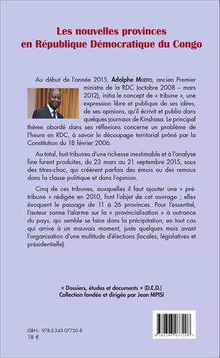 4eme Les nouvelles provinces en République Démocratique du Congo