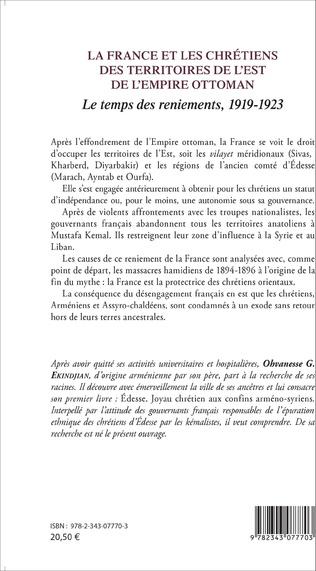 4eme La France et les chrétiens des territoires de l'Est de l'Empire ottoman