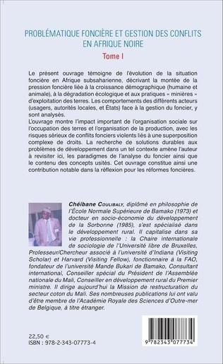 4eme Problématique foncière et gestion des conflits en Afrique Noire