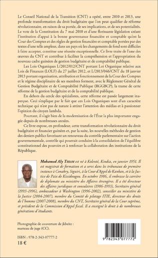4eme La Cour des Comptes issue de la Constitution de la République de Guinée