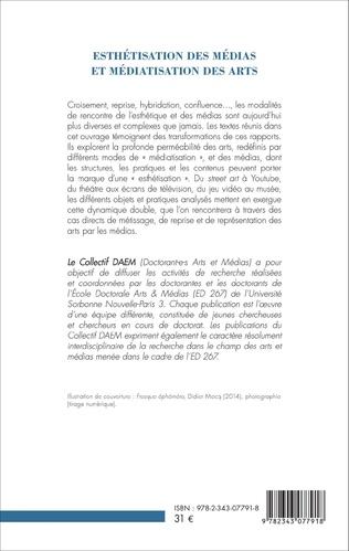 4eme Esthétisation des médias et médiatisation des arts