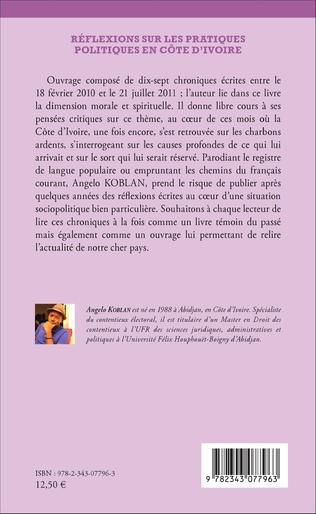 4eme Réflexions sur les pratiques politiques en Côte d'Ivoire