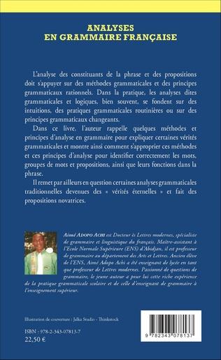 4eme Analyses en grammaire française