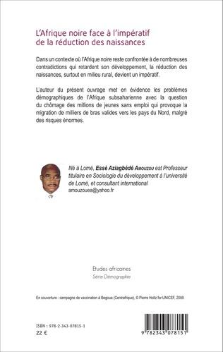 4eme L'Afrique noire face à l'impératif de la réduction des naissances