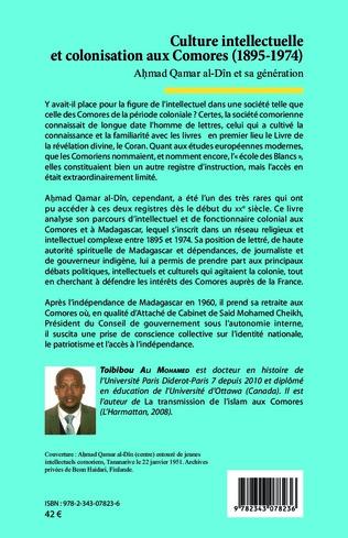 4eme Culture intellectuelle et colonisation aux Comores (1895-1974)