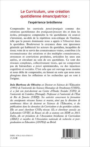 4eme Le Curriculum, une création quotidienne émancipatrice : l'expérience brésilienne
