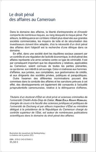 4eme Le droit pénal des affaires au Cameroun