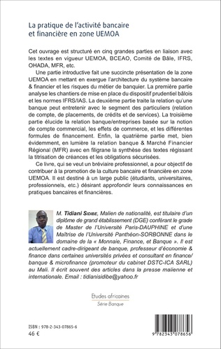4eme La pratique de l'activité bancaire et financière en zone UEMOA