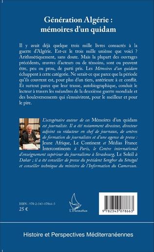 4eme Génération Algérie : mémoires d'un quidam