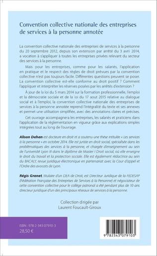 4eme Convention collective nationale des entreprises de services à la personne annotée